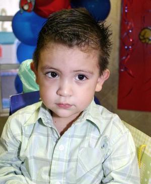 Luis Carlos Gallegos celebró su tercer cumpleaños.