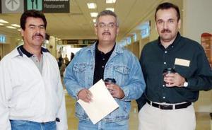 Hilario Vélez, Luis Rogelio Muñoz y Jaime Muñoz viajaron al DF.
