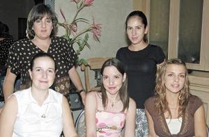 Ana de Marín, Lety de Dávila, Ana Gaby de Juan Marcos, Any de Correa y Rocío Juan Marcos de Mexsen.