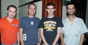 Xavier Salmón, Gerardo Esquivel, Óscar del Bosque y Antonio Cravioto.
