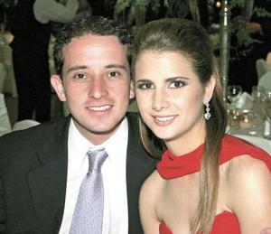 Alberto Fernández y Nadia Giacomán.