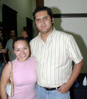 Claudia Ibarra y César Cano.