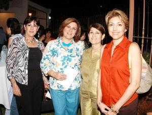 Estela de Meraz, Marcela de Wong, Ali de Martínez y Martha de Ávalos.