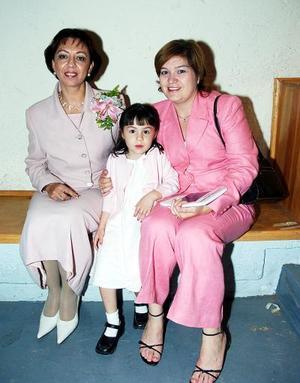 Gloria Rincón, Isabel Llamas e Isabel Barraza.