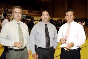 Jesús Prado, Sergio Mota y Héctor Macías.