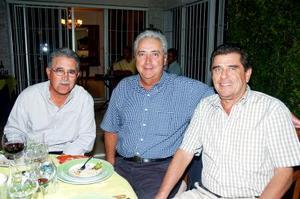 Luis de la Rosa, Marco Antonio Portal y Roberto Barranco.