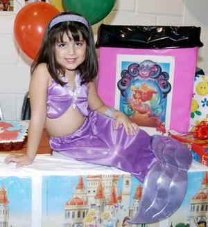 Ana Paula Adame Rodríguez, captada el día de su piñata.