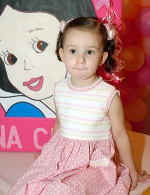 Con motivo de su cumpleaños, la pequeña Ana Cristina Ochoa Villalobos fue festejada por sus papás.