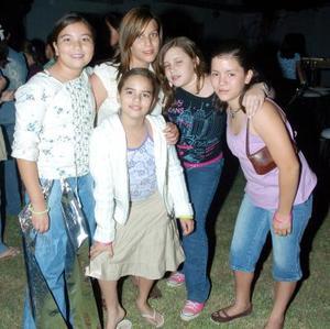 Marcela Villarreal, Alma Hernández, Brenda Ivette González, Ana Sofía Huerta y Graciela Godínez.