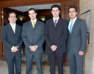Andrés Pérez Amarante, Roberto Garza, Luis Antonio Gibert y Juan Eduardo Villalobos.