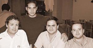 Salvador Guerrero, Jorge Alvarado, Eduardo Araluce y Luis Alberto Montaña.