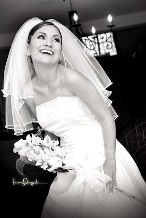 Lic. Luz Adriana Campos Acosta, el día de su boda con el Ing. Gerardo Reyes Pimentel.
