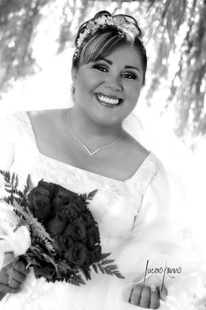 Ing. María Luisa del Carmen Méndez, el día de su enlace matrimonial con el Ing. Joel Castellanos Flores.