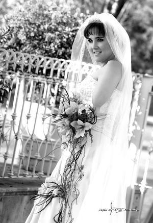 Srita. Scarlett Murra Papadópulos, el día de su enlace matrimonial con el Sr. Alan  Ganem Pérez.