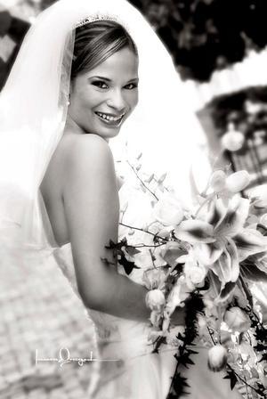 Srita. Verónica Ledesma Rosas, el día de su enlace matrimonial con el Sr. Leoncio A. Ortiz Torres.