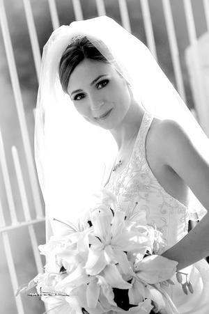 Srita. Jéssica Díaz Flores Nájera, el día de su enlace matrimonial con el Sr. Marco Antonio Gordillo Argüelles.