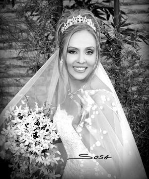 Srita. Dalila Valadez Macías, el día de su enlace matrimonial con el Sr. Stephen Michael Jarvis.