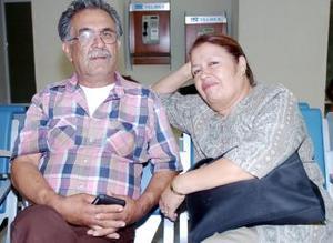 José Luis Tavizón y Virginia Valenzuela viajaron a Tijuana.