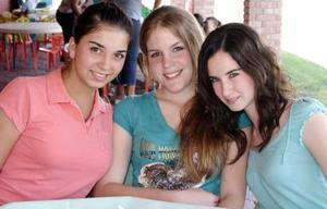 Natalia Álvarez, Isabel Negrete y Marcela Rodríguez.