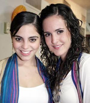 Sory Garza y Lucía Sáenz.