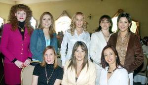 Angélica Gaytán, Tommy de García, Verónica de Siller, Carmen de Esparza, Gina de Maturino, Diana de Gavela, Coco de Magaña y Graciela Garza.