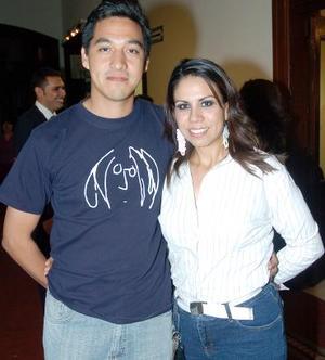René Arellano y Annel Rodríguez.