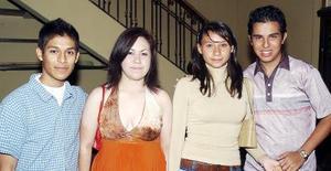 Abraham Ley, Priscila Torres, Adriana Colmenero y Alejandro Ayala.