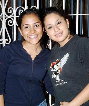 Diana Rosales y Annie Jaime.