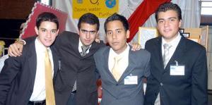 Jesús Viesca, Eduardo Faccuseh, José Luis Sarmiento y Ernesto Mijares.