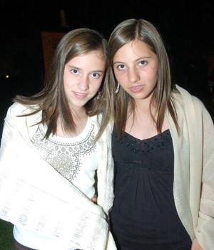 <b>07 noviembre 2005</b><p> Adriana Martínez y Sofía Cruz.
