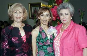 En su fiesta de despedida, Adriana Pedroza Hernández.