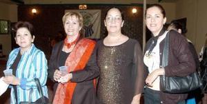 Dulce Rivera, Lourdes de Villarreal, Soledad y Adriana Blásquez.