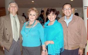 Guillermo Millán, Ángeles de Millán,Yolandade Nares y Jesús Nares.