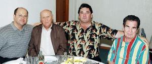 Sergio de la Garza Botello, Sergio de la Garza Villarreal, David Cruz Romo y Luis López.
