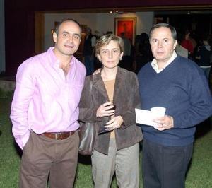 Mario Talamás Murra , Martha Jiménez de Lambarry y Agustín Lambarry.