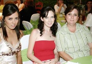 Selene Anguiano, Fernanda Acosta y Angélica Alba.