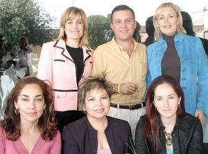 Rosaura de Quintero, Cuic Estrella, Claudia Estrella, Liliana Estrella, Belen Ochoa y Carolina de Estrella