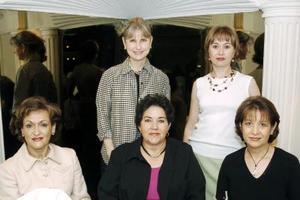 Ángeles de Lara, Lucila de Hernández, Lety de Martínez, Luly de Berlanga y Margarita de Rivera.