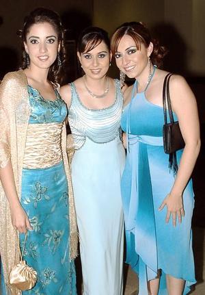 Claudia Hamdan, Judy Hernández y Myrna Hoyos
