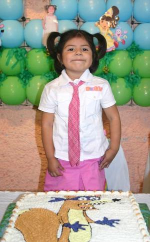La pequeña Frida Sofía López Zavala cumplió su cuarto cumpleaños.