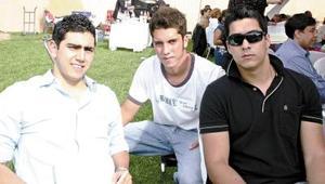 Diego Campa, Jorge Villarreal y Beto Díaz de León.