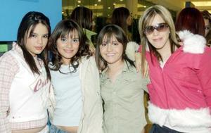 Cecy Verdeja, Fernanda Elizondo, Salma Recio y Ale Cárdenas