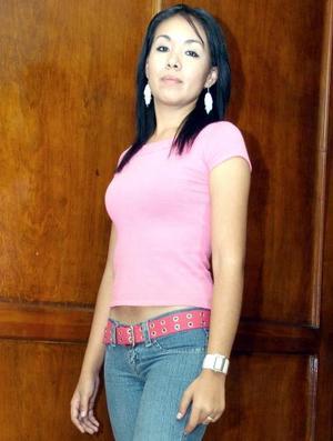 Lizeth Alvarado, de Cuarto A de la Facultad de Derecho de la UAC.