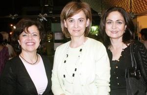Adriana de Vega, Lucía Dolores Reyero y Susana de Murra.