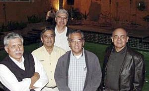 Fernando ROmero Vicente González Muñoz, Eduardo Zataráin, Fernando Fiscal y Luis Pimentel.