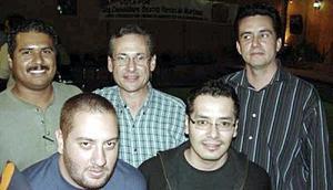 Jorge Guerrero, José Ángel Toraño, Fernando Máynez, Daniel Pérez y José Luis Orozco