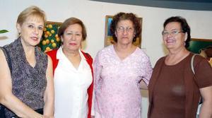Judith Gurza, Katy Gámez. Socorro González y Esperanza Aguilera