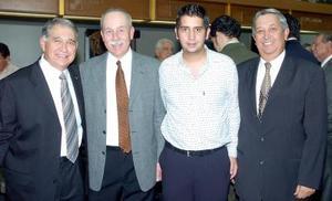 Mario Valdés Berlanga, Marcelo Valdés, Alberto Ross y Manuel Leal.