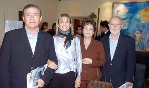 Román Cepeda, María Luisa de Cepeda, Lucy de Urow y León Urow.