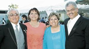 Rubén Fraire Serrato, María Estela López de Fraire, Carmen Falcón y José Olvera.